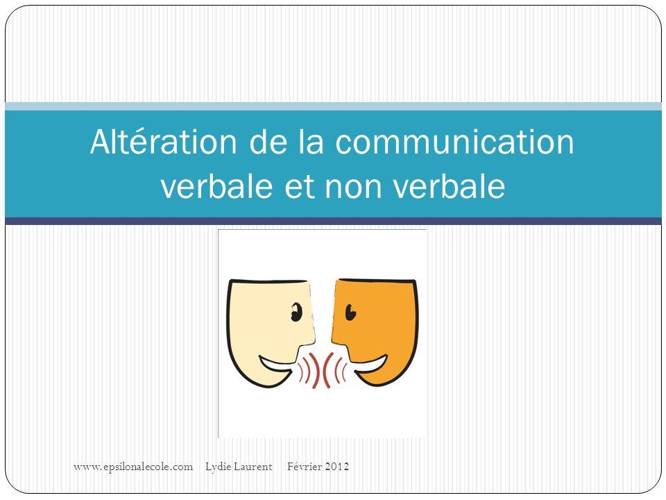 Altération de la communication verbale et non verbale