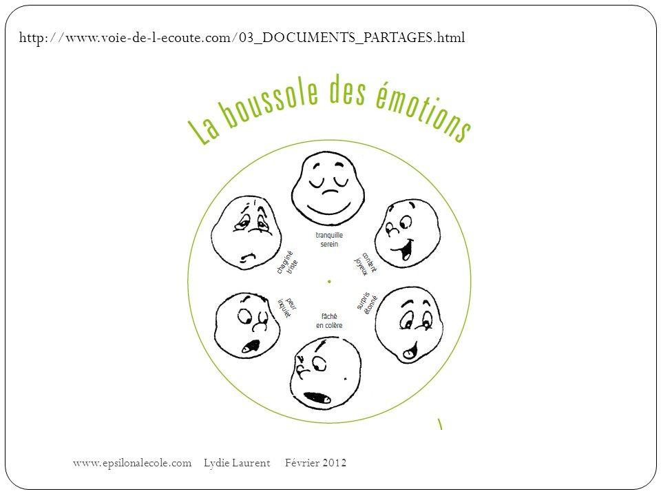 www.epsilonalecole.com Lydie Laurent Février 2012 http://www.voie-de-l-ecoute.com/03_DOCUMENTS_PARTAGES.html