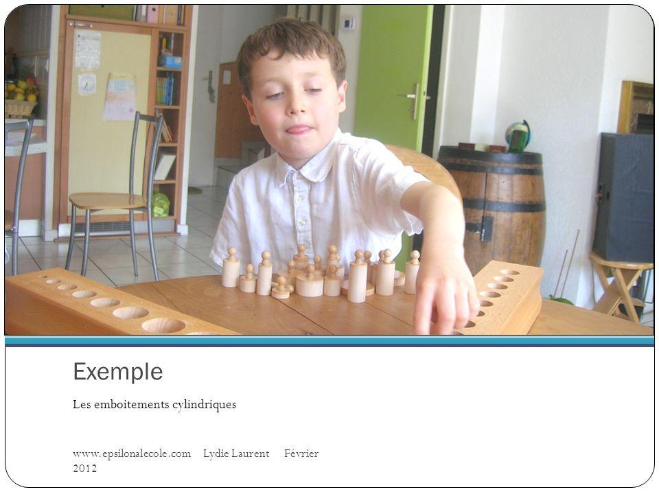 Exemple Les emboitements cylindriques www.epsilonalecole.com Lydie Laurent Février 2012