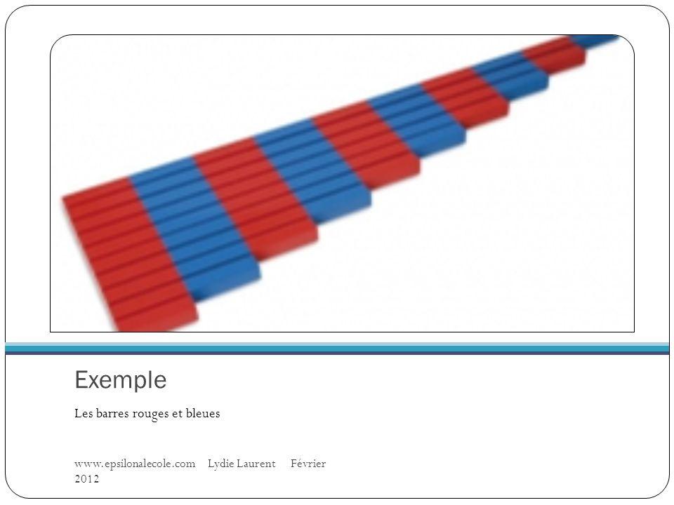 Exemple Les barres rouges et bleues www.epsilonalecole.com Lydie Laurent Février 2012