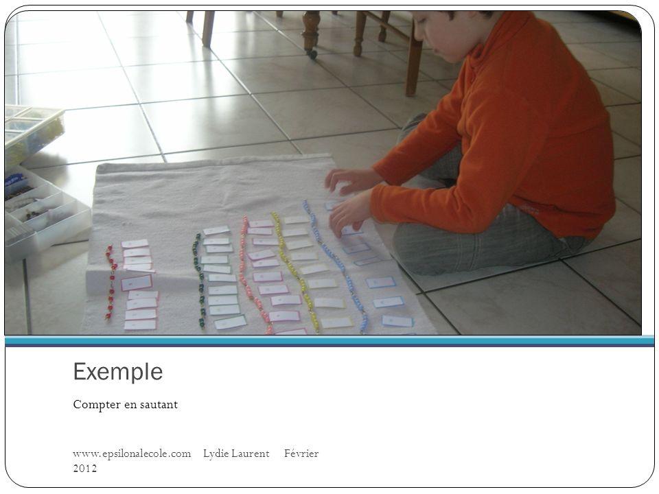 Exemple Compter en sautant www.epsilonalecole.com Lydie Laurent Février 2012