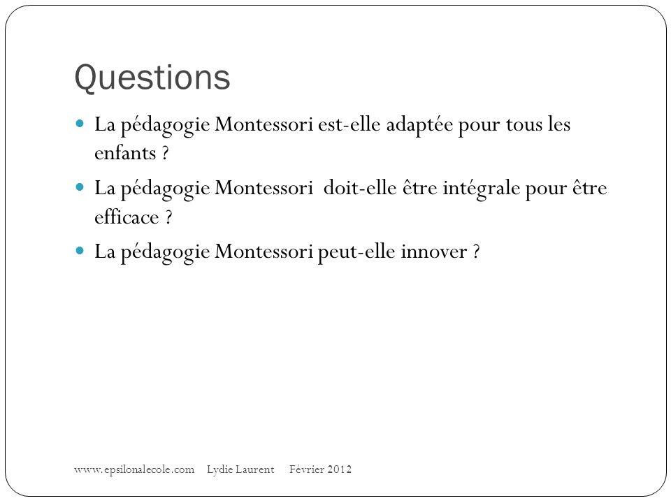 Questions La pédagogie Montessori est-elle adaptée pour tous les enfants .