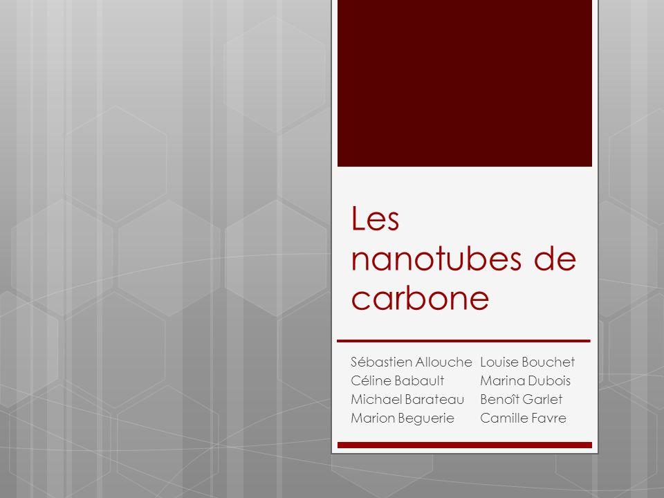 Les nanotubes de carbone Sébastien Allouche Céline Babault Michael Barateau Marion Beguerie Louise Bouchet Marina Dubois Benoît Garlet Camille Favre