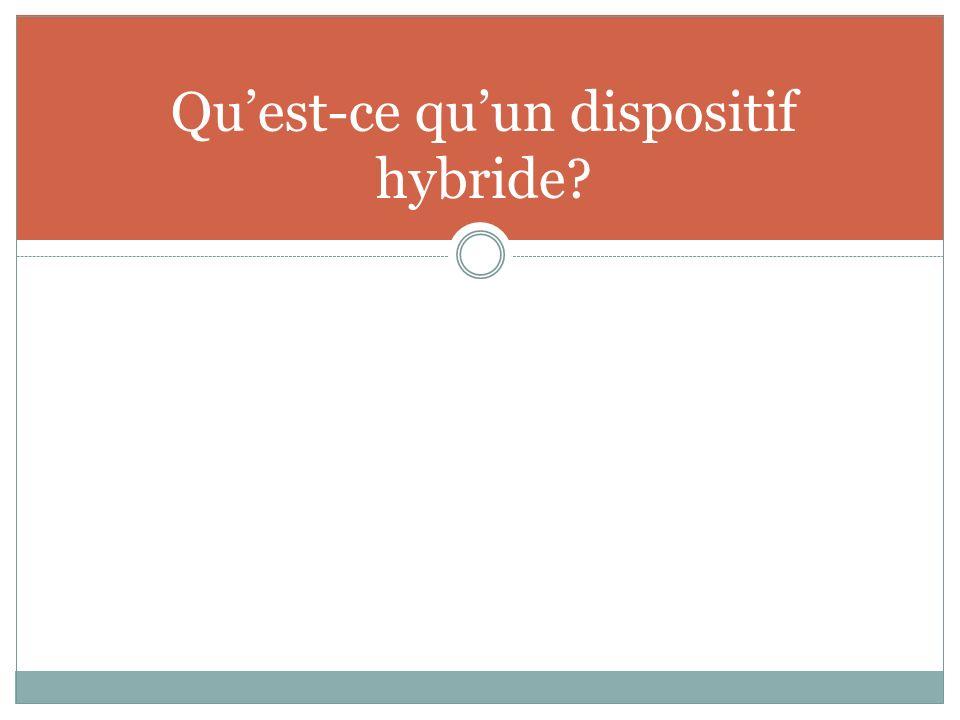 Quest-ce quun dispositif hybride?
