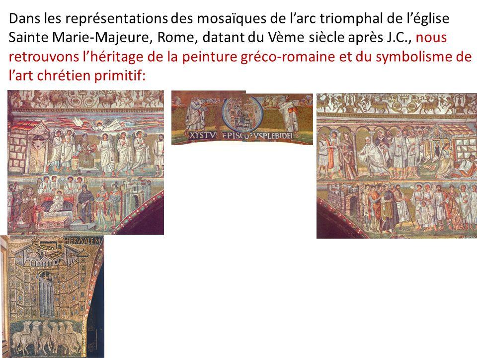 Dans les représentations des mosaïques de larc triomphal de léglise Sainte Marie-Majeure, Rome, datant du Vème siècle après J.C., nous retrouvons lhér