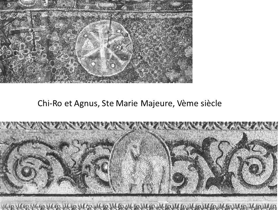 Chi-Ro et Agnus, Ste Marie Majeure, Vème siècle