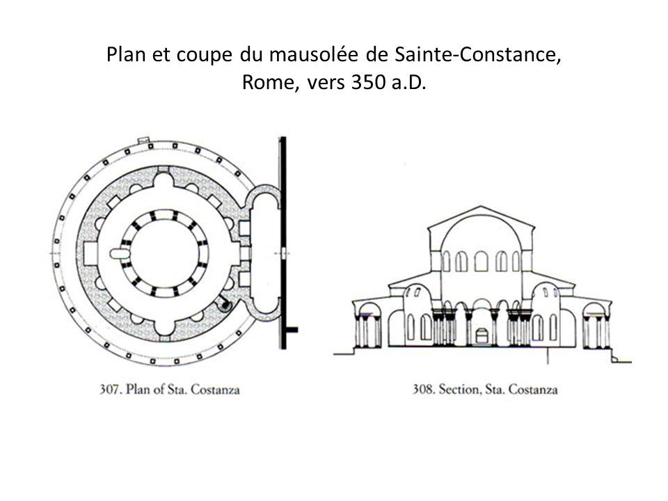 Plan et coupe du mausolée de Sainte-Constance, Rome, vers 350 a.D.