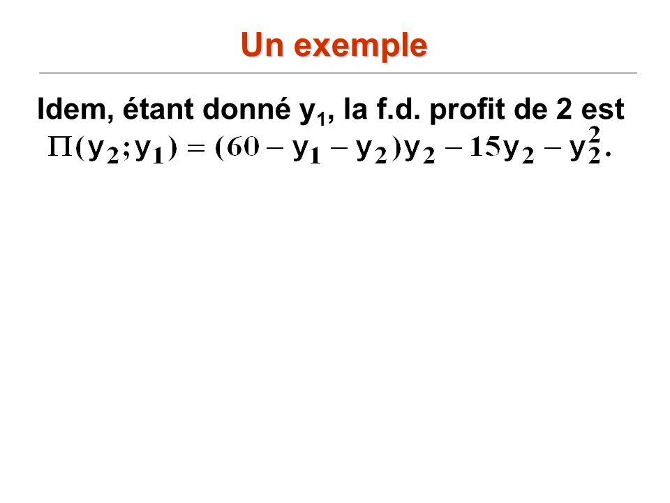 Idem, étant donné y 1, la f.d. profit de 2 est Un exemple