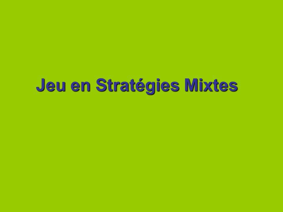 Jeu en Stratégies Mixtes