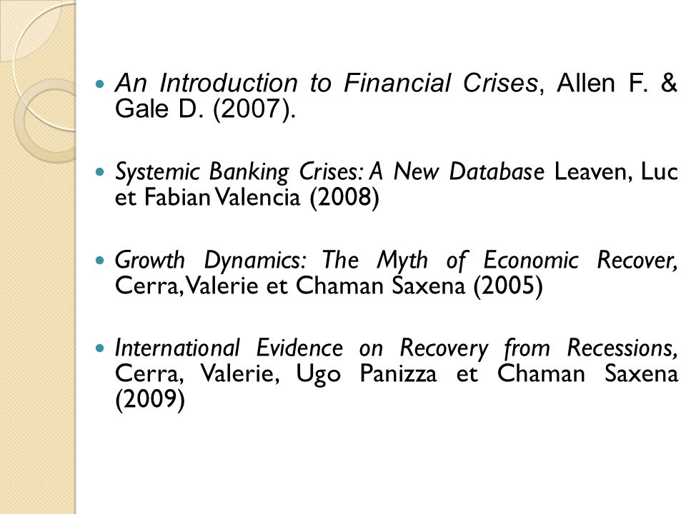 An Introduction to Financial Crises, Allen F.& Gale D.