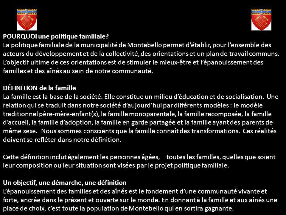 Mot de la conseillère responsable des questions familles Je suis fière davoir contribué à lélaboration dune politique familiale et municipalité Amis d