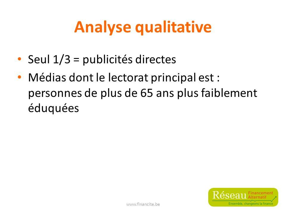 Analyse qualitative – schéma de Jakobson Fonction référentielle : quelles sont les informations relatives à l ouverture de crédit .