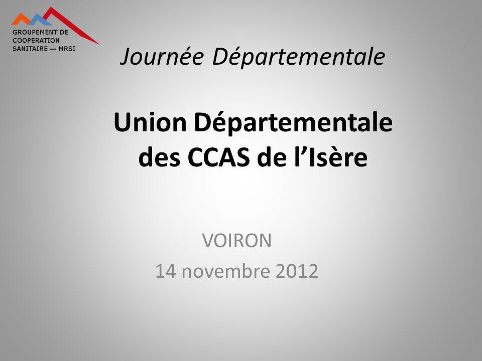 Journée Départementale Union Départementale des CCAS de lIsère VOIRON 14 novembre 2012