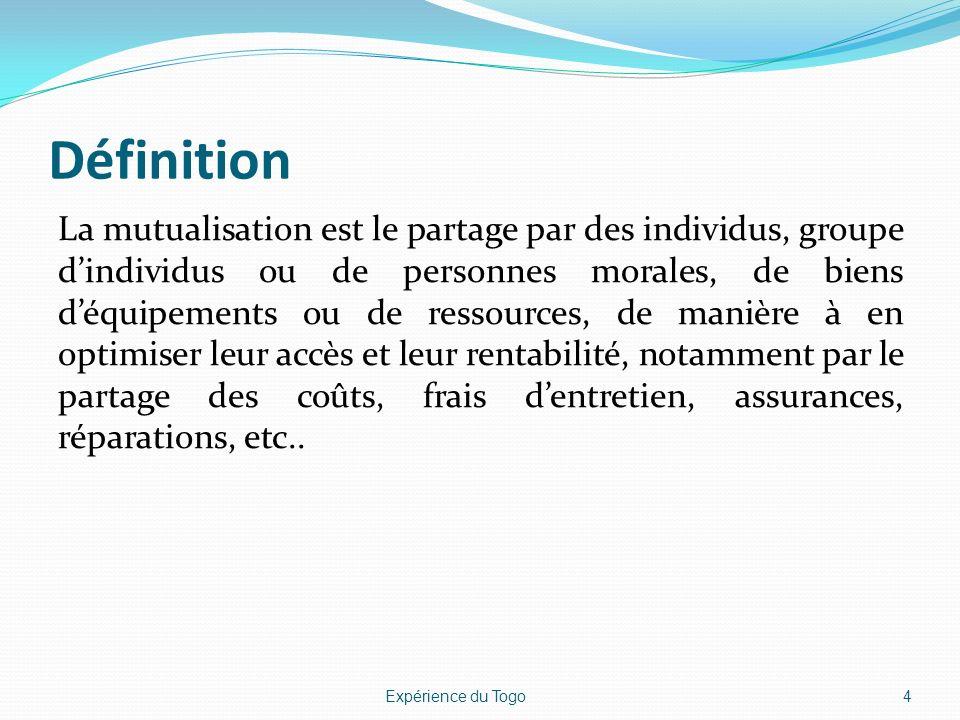 Définition La mutualisation est le partage par des individus, groupe dindividus ou de personnes morales, de biens déquipements ou de ressources, de ma