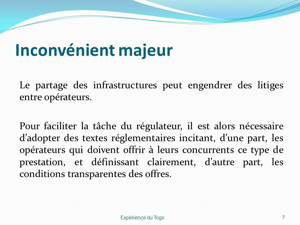 Autres dispositions Mise en place, pendant le dernier semestre de lannée 2011, dune commission technique de réflexion sur le partage des infrastructures de télécommunications.