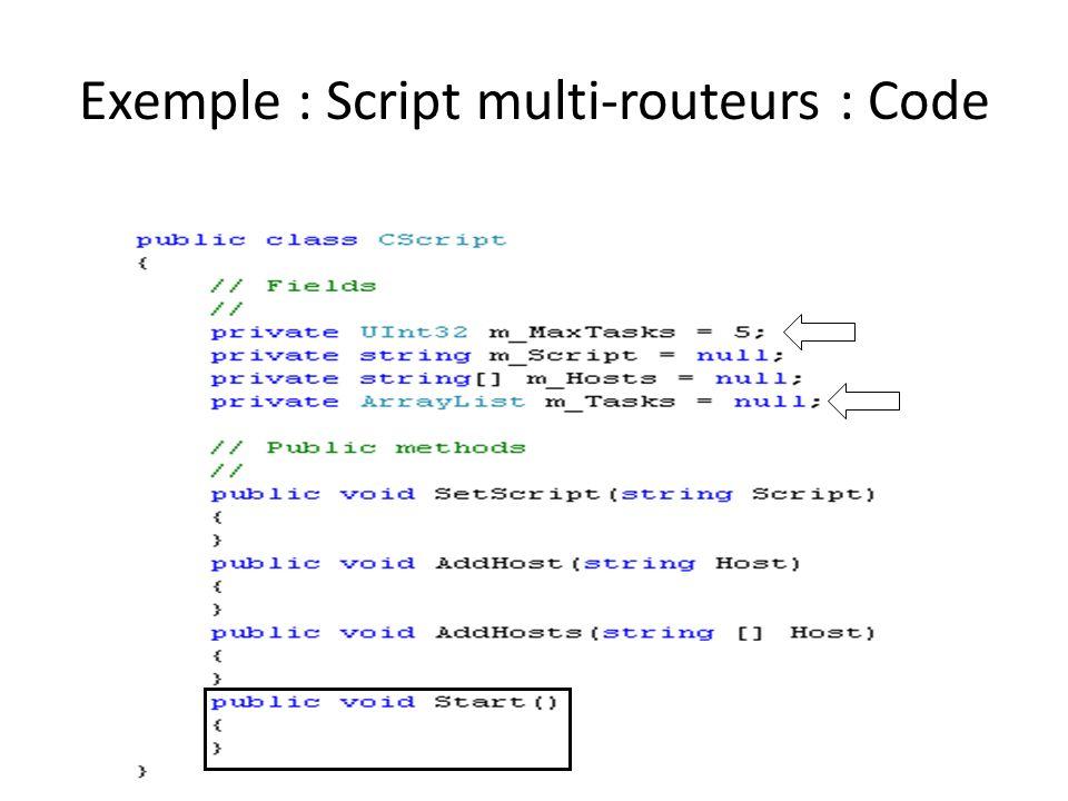 Exemple : Script multi-routeurs : Code