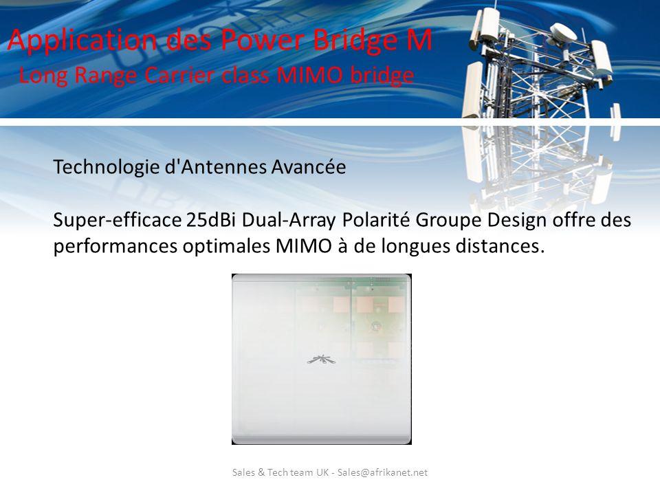 Sales & Tech team UK - Sales@afrikanet.net Technologie d'Antennes Avancée Super-efficace 25dBi Dual-Array Polarité Groupe Design offre des performance