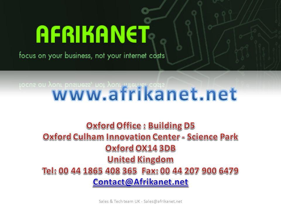Sales & Tech team UK - Sales@afrikanet.net