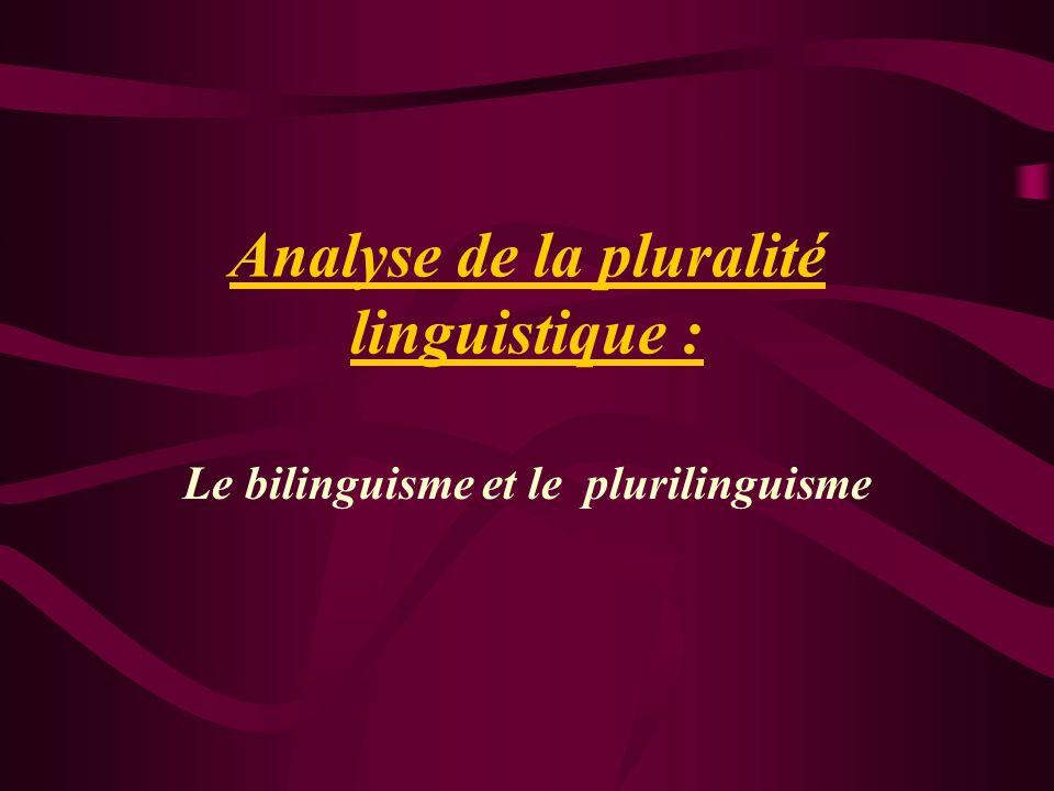 Analyse de la pluralité linguistique : Le bilinguisme et le plurilinguisme