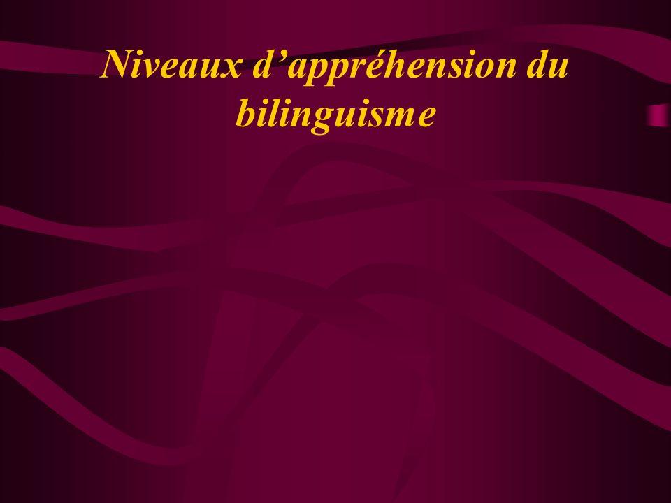 Niveaux dappréhension du bilinguisme
