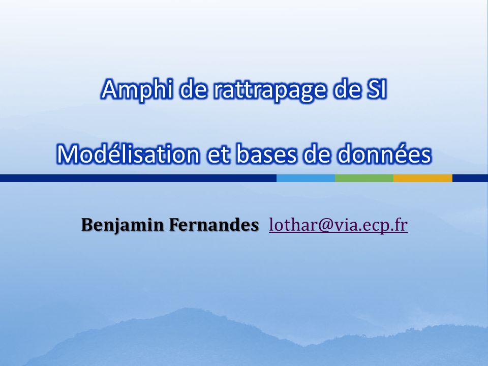 Benjamin Fernandes Benjamin Fernandes lothar@via.ecp.frlothar@via.ecp.fr
