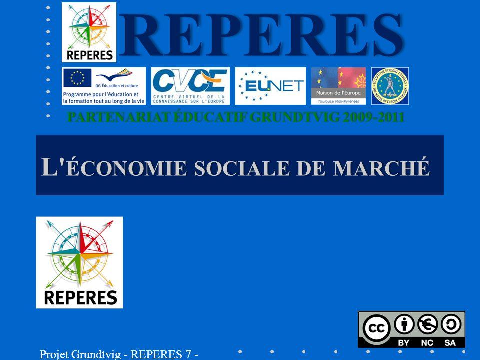 1.- D ÉFINITIONS DE L ÉCONOMIE SOCIALE DE MARCHÉ Léconomie sociale de marché, cest concilier à la fois léconomie de marché, présentée comme un universel indiscutable et indépassable, et le souci de la justice sociale.