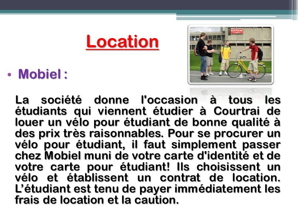 Location Mobiel : La société donne l'occasion à tous les étudiants qui viennent étudier à Courtrai de louer un vélo pour étudiant de bonne qualité à d