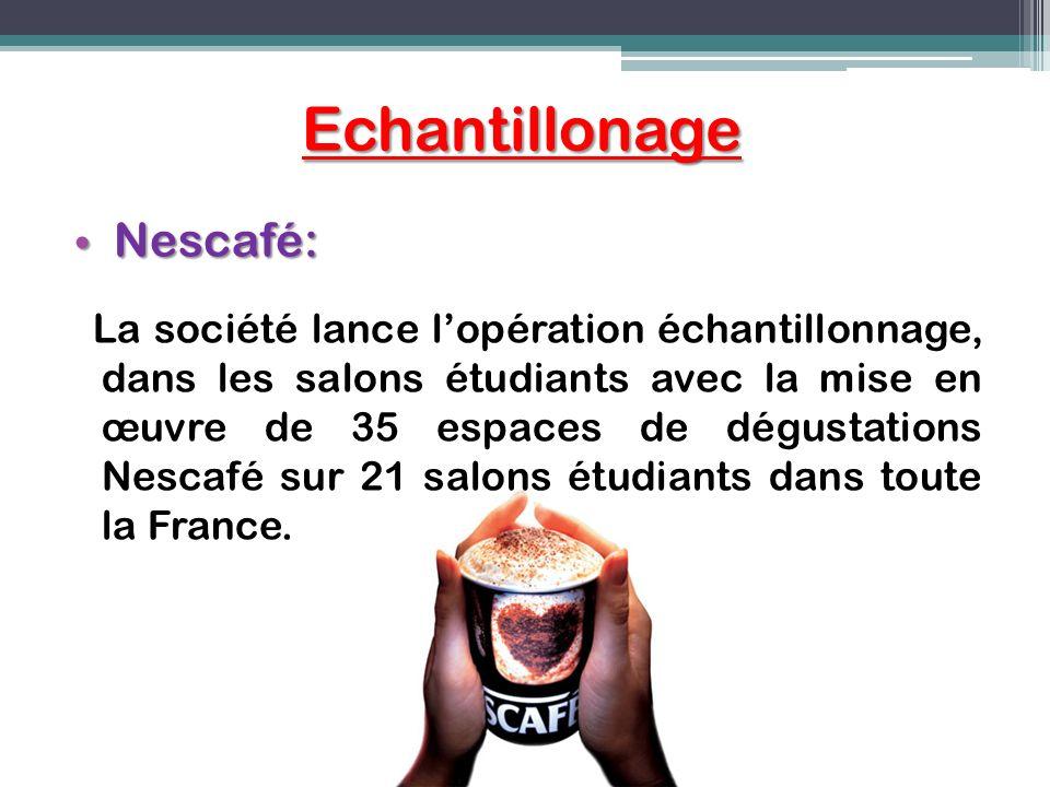 Echantillonage Nescafé: Nescafé: La société lance lopération échantillonnage, dans les salons étudiants avec la mise en œuvre de 35 espaces de dégusta