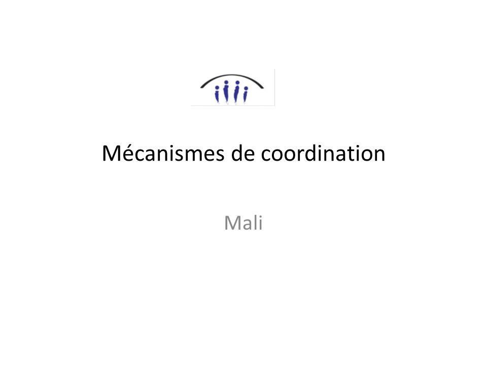 Mécanismes de coordination Mali