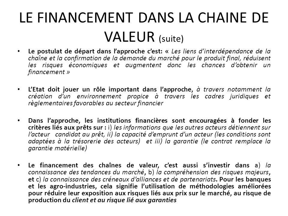 Le postulat de départ dans lapproche cest: « Les liens dinterdépendance de la chaîne et la confirmation de la demande du marché pour le produit final,