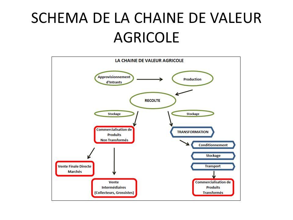 SCHEMA DE LA CHAINE DE VALEUR AGRICOLE