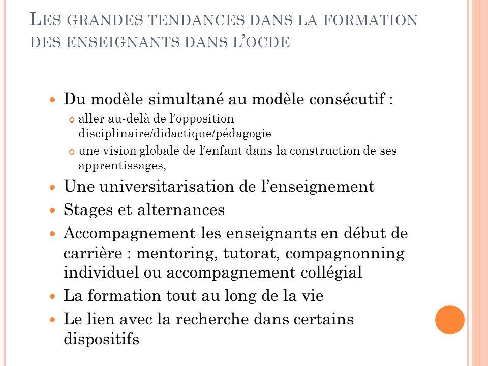 D ES MODELES DE FORMATION MULTIPLES Modèles inspirés de F.Cros, affinés par R.