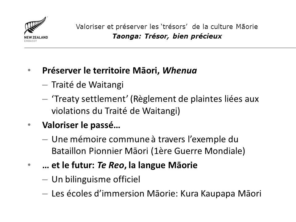 Préserver le territoire Māori, Whenua – Traité de Waitangi – Treaty settlement (Règlement de plaintes liées aux violations du Traité de Waitangi) Valo