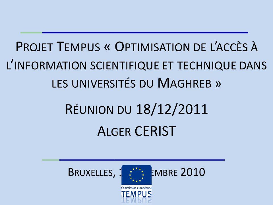 Le Contexte Construire lEspace (Euro)Maghrebin de la recherche Encouraging the unrestricted sharing of research results with everyone