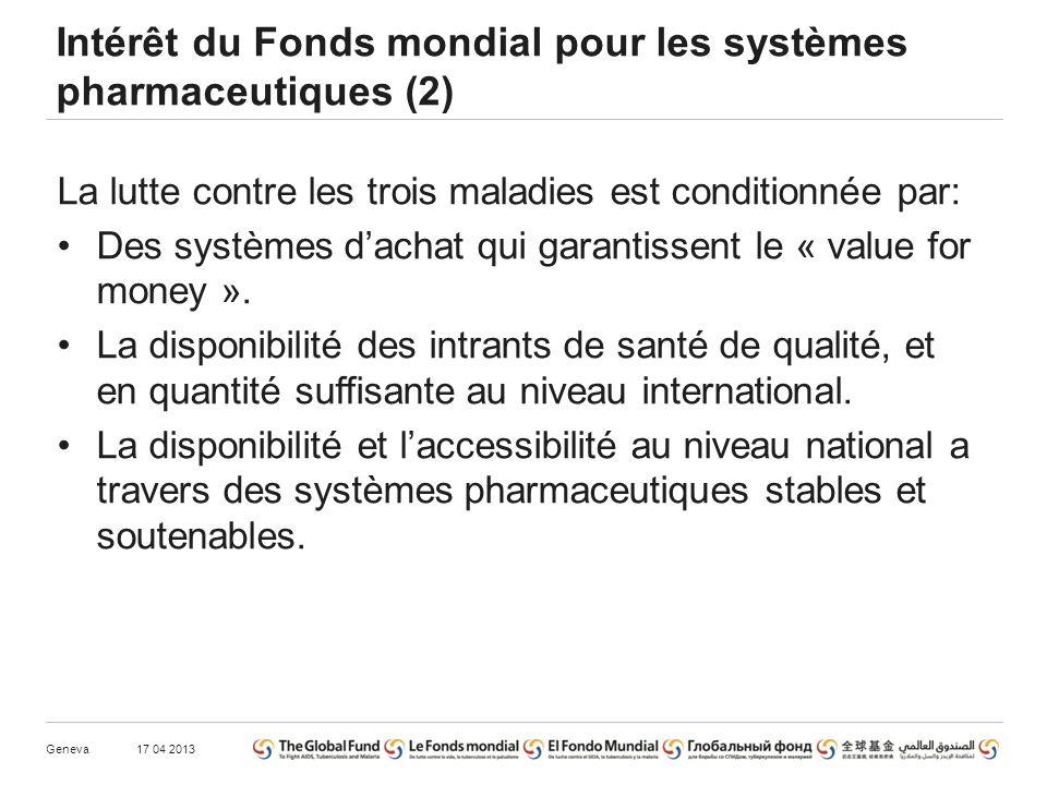 La lutte contre les trois maladies est conditionnée par: Des systèmes dachat qui garantissent le « value for money ».