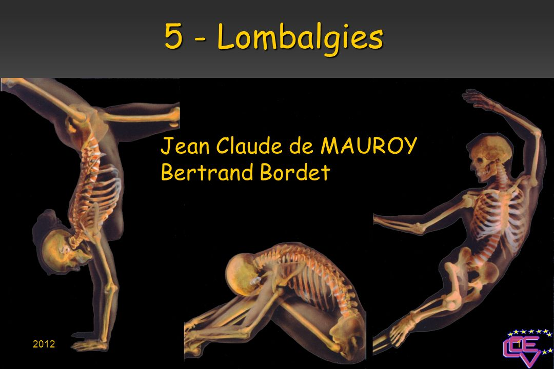 Jean Claude de MAUROY Bertrand Bordet 5 - Lombalgies 20121