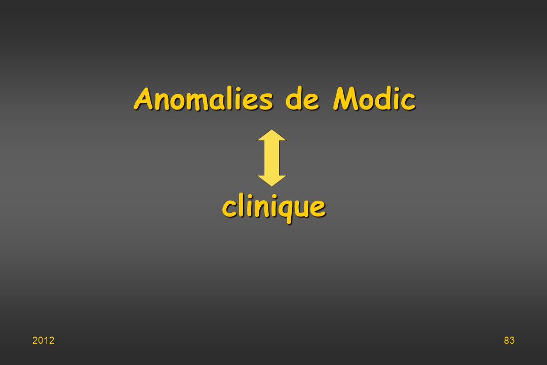 Anomalies de Modic clinique 201283