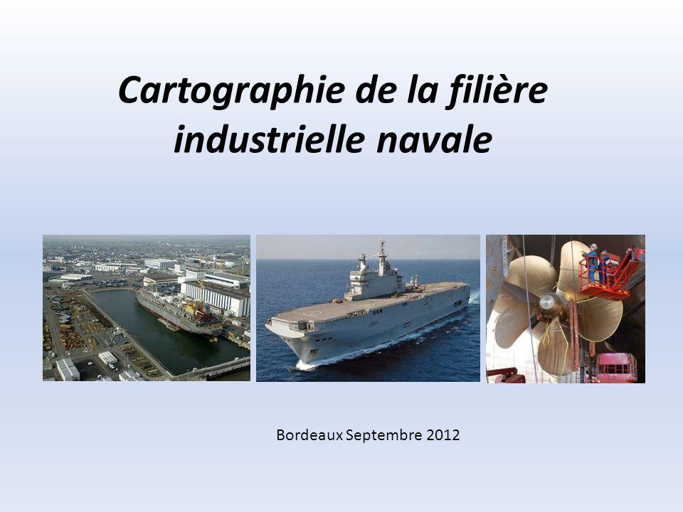 Points clés de la filière navale française Chiffres clés : - 480 sociétés identifiées ; - 8,5md de chiffre daffaires maritime en 2010 ; -Plus de 40000 emplois.