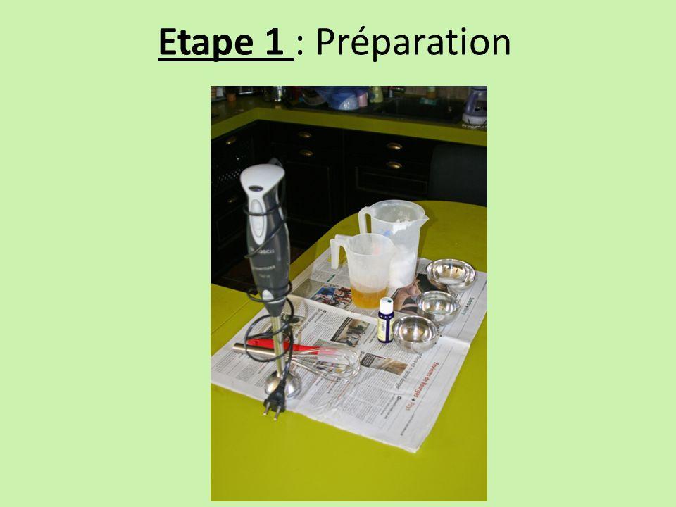 Etape 2 : Diluer la soude dans leau