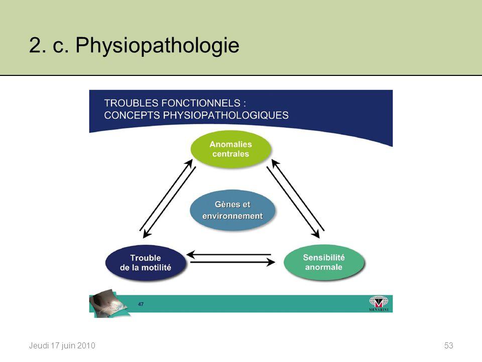 2. c. Physiopathologie Jeudi 17 juin 201053