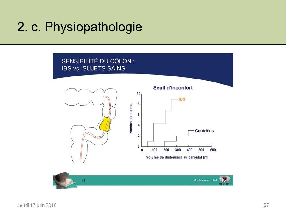 2. c. Physiopathologie Jeudi 17 juin 201057