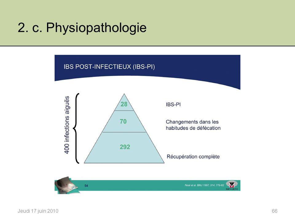 2. c. Physiopathologie Jeudi 17 juin 201066