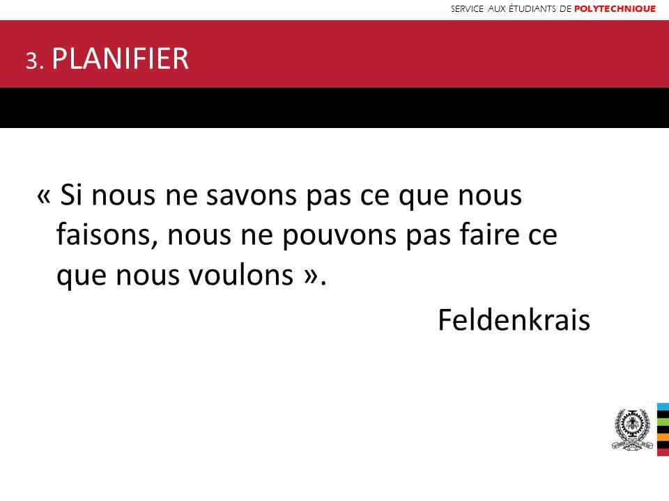 SERVICE AUX ÉTUDIANTS DE POLYTECHNIQUE « Si nous ne savons pas ce que nous faisons, nous ne pouvons pas faire ce que nous voulons ». Feldenkrais 3. PL