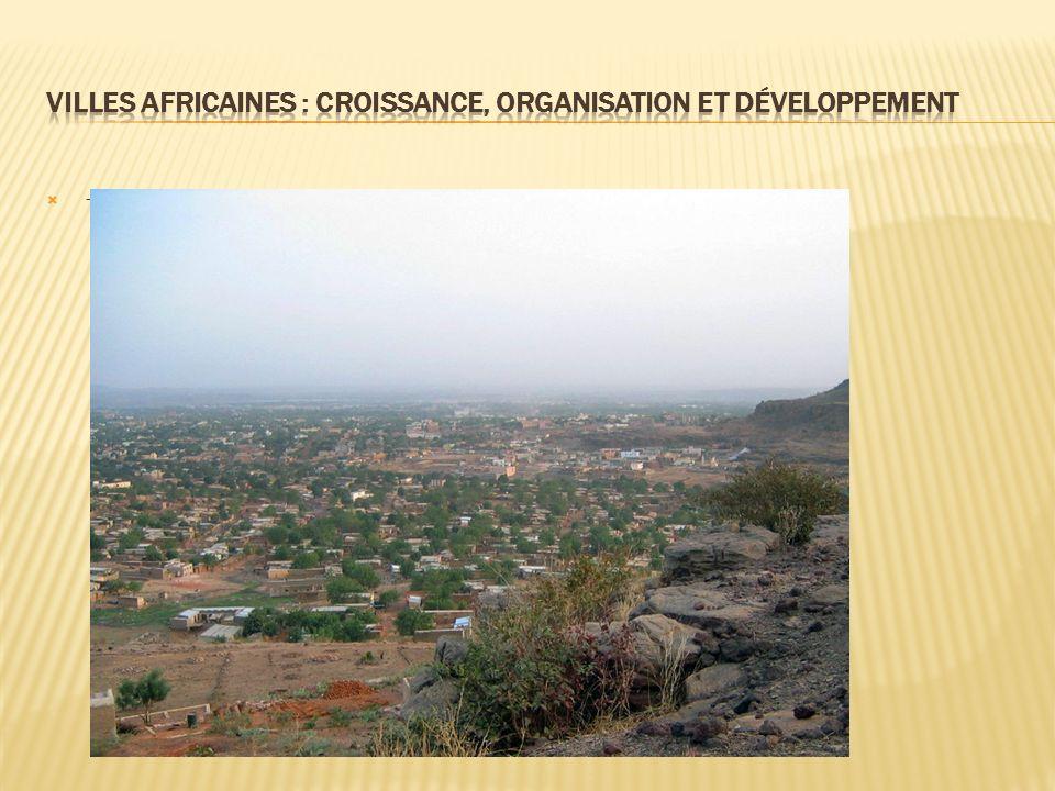 - la capitale macrocéphale de l état sahélien au caractère semi-rural : Bamako