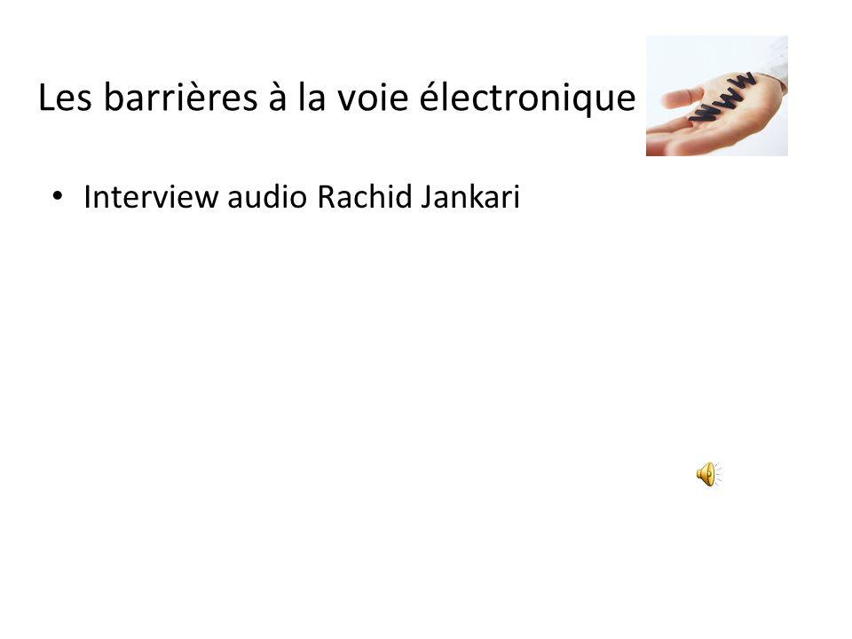 Les barrières à la voie électronique Interview audio Rachid Jankari