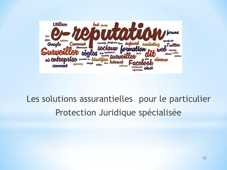 Les solutions assurantielles pour le particulier Protection Juridique spécialisée 32