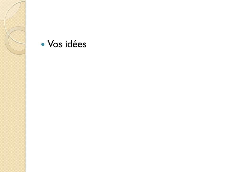 Vos idées