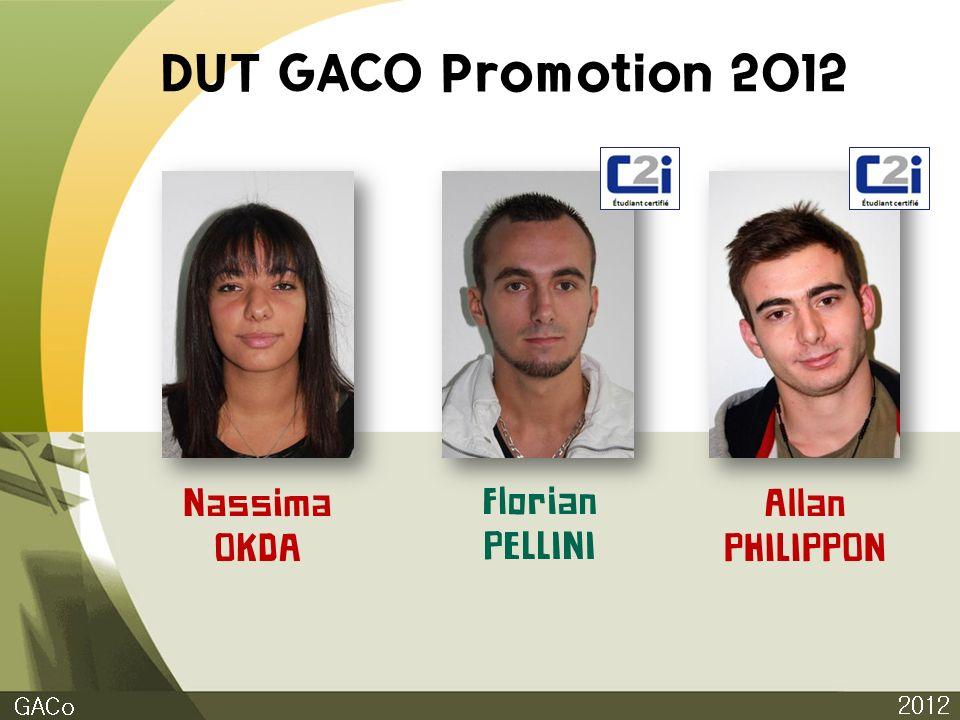 DUT GACO Promotion 2012 2012 GACo Nassima OKDA Florian PELLINI Allan PHILIPPON