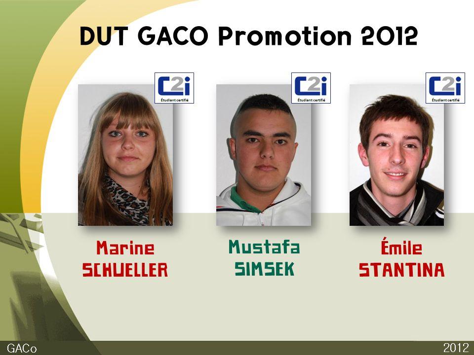 DUT GACO Promotion 2012 2012 GACo Marine SCHUELLER Mustafa SIMSEK Émile STANTINA