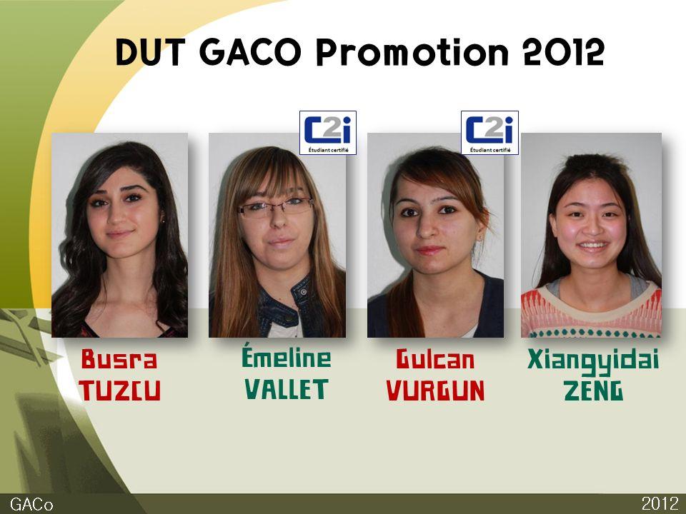 DUT GACO Promotion 2012 2012 GACo Busra TUZCU Émeline VALLET Gulcan VURGUN Xiangyidai ZENG